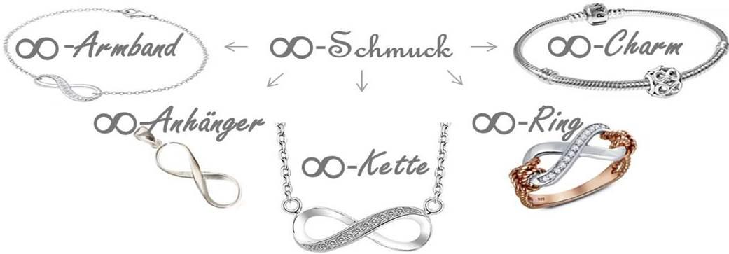 Infinity Schmuck - Unendlichkeitszeichen Schmuck